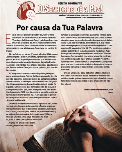 """Boletim """"O Senhor te dê a Paz"""", Fevereiro/Março 2020"""