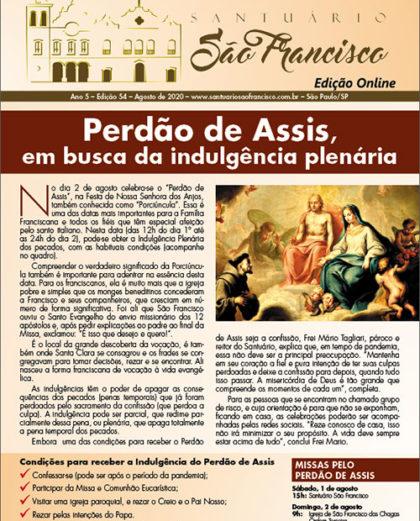 Boletim Santuário São Francisco - Agosto de 2020