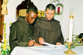Profissão Solene de Frei Afonso em Angola