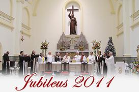 No dia da Imaculada, Missa de Ação de Graças pelos Jubileus da Província