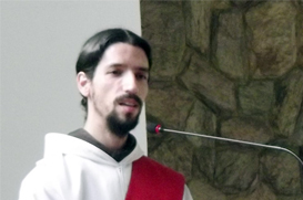 Frei André proclama a sua profissão de fé