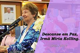 Falece Ir. Miria Kolling, ícone da música litúrgica