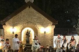 Ministro Provincial inaugura capela na Paróquia Santo Antônio