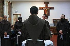 Fraternidade do Sagrado acolhe os professandos