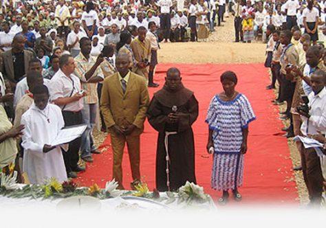 Profissão Solene de Frei António Boaventura Zovo Baza em Luanda