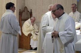 Papa pede: Evitar uma lista de preços para os Sacramentos