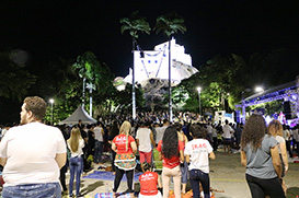 A primeira Vigília Jovem da Festa da Penha