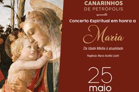 Coral dos Canarinhos apresenta o Concerto Espiritual em Honra a Maria