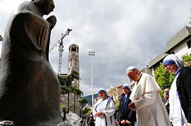 Papa no Memorial de Madre Teresa: sejamos sinal de esperança no nosso tempo