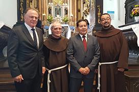 Convento da Penha recebe visita do vice-presidente da República