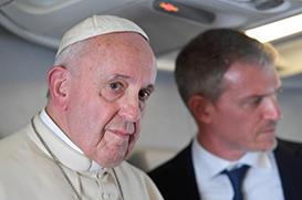 """Papa Francisco aos jornalistas: a xenofobia é """"uma doença"""""""