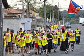 1ª Caminhada Franciscana de Campo Largo provoca os jovens
