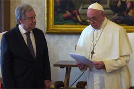 Chega de indiferença: mensagem conjunta do Papa e do secretário-geral da ONU