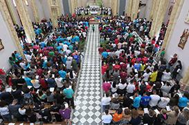 """""""Levem a paz!"""", pede Frei Gilson na Missa do Envio"""