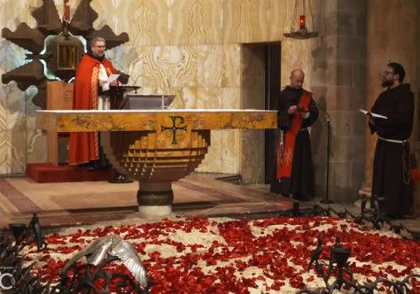 Frei Patton celebra o Preciosíssimo Sangue de Cristo no Getsêmani