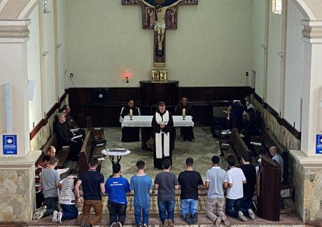 """Frei César aos postulantes: """"Não deixem a graça de Deus passar em vão na vida de vocês""""!"""