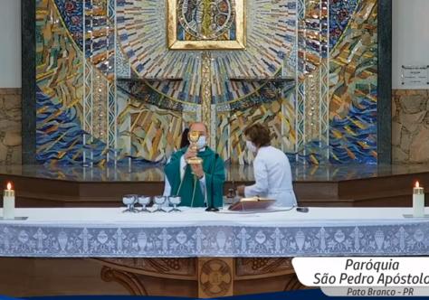 Rede Celinauta e Paróquia São Pedro Apóstolo iniciam transmissão televisionada diária da Santa Missa
