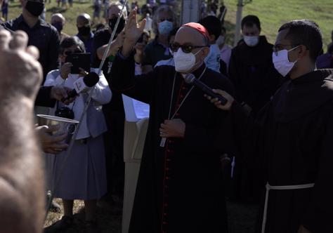 Franciscanos lançam a pedra fundamental do Santuário Frei Galvão