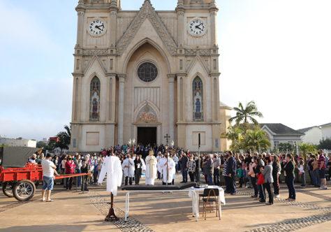Solenidade de Corpus Christi na Paróquia São Luiz Gonzaga de Xaxim