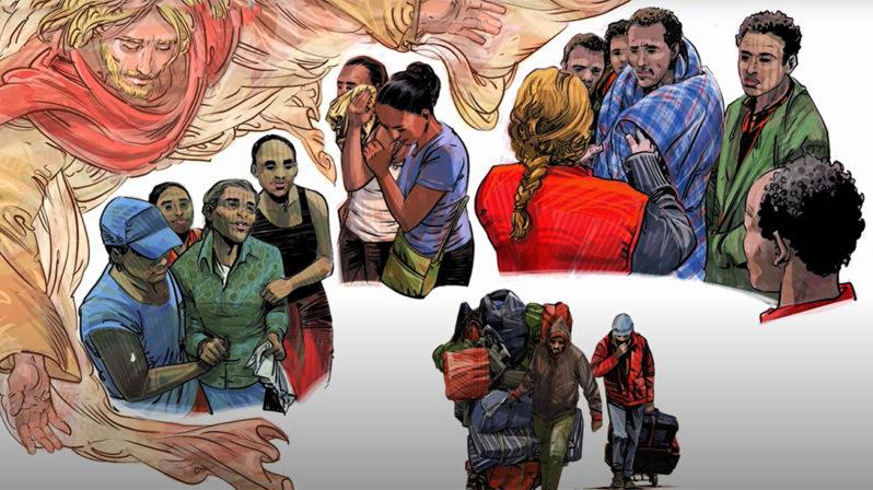 """""""Forçados como Jesus Cristo a fugir"""": Partilhar para crescer"""