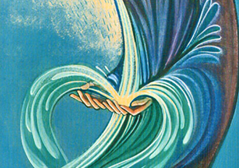 Água que corre para a vida eterna