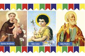 Os três santos do povo
