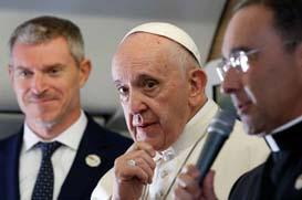 O Papa e a sombra de um cisma