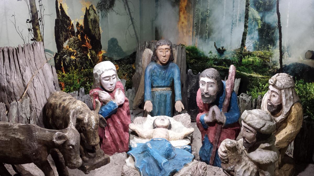 Resultado de imagem para presépio, no bairro de Nova Descoberta em natal