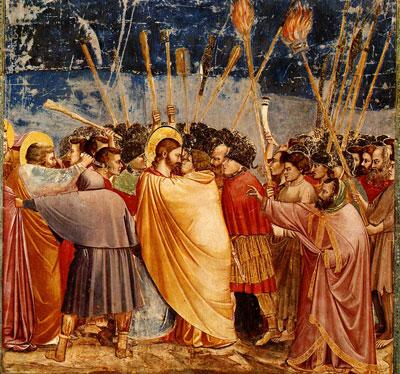 O beijo de Judas, de Giotto