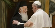 Pope Francis pictured in file photo with Ecumenical Patriarch Bartholomew of Constantinople