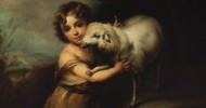 Murillo, Bartolome Esteban, 1617-1682; The Infant John the Baptist with a Lamb
